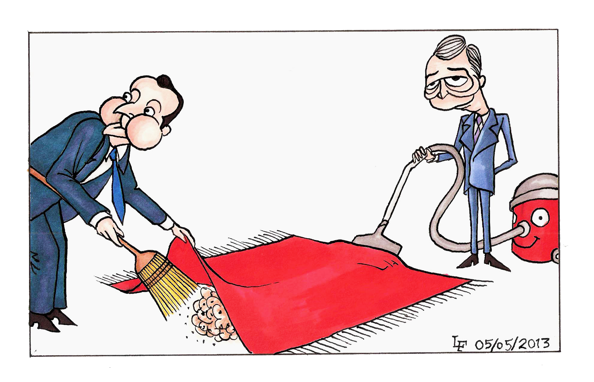 sweeping under the carpet