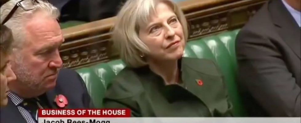 Theresa May owned by Mogg